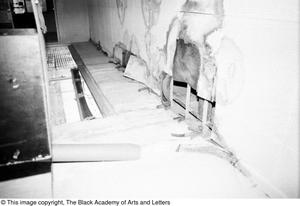Primary view of object titled '[Ceiling Damage at Lamar St. Location]'.