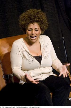 Primary view of object titled '[Kim Fields Acting On-Stage]'.