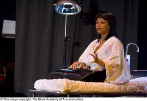 Primary view of object titled '[Kim Fields in a Scene During Play]'.
