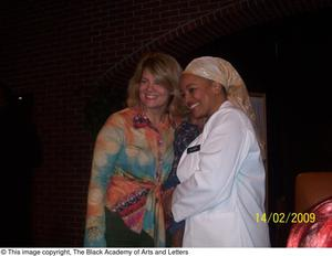 Primary view of object titled '[Kim Fields and Unidentified Woman]'.