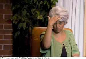 Primary view of object titled '[Kim Fields on Stage During a Scene]'.