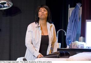 Primary view of object titled '[Kim Fields On Stage]'.