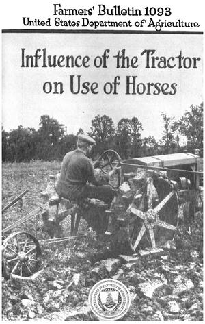 Primary view of object titled 'Influence of the Tractor on Use of Horses'.