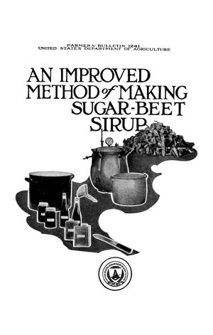 Primary view of object titled 'An Improved Method of Making Sugar-Beet Sirup'.