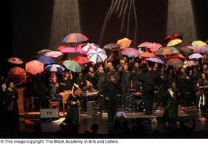 Primary view of object titled '[Chorus with Umbrellas and Dancers]'.