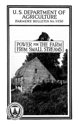Primary view of object titled 'Power for the Farm from Small Streams'.