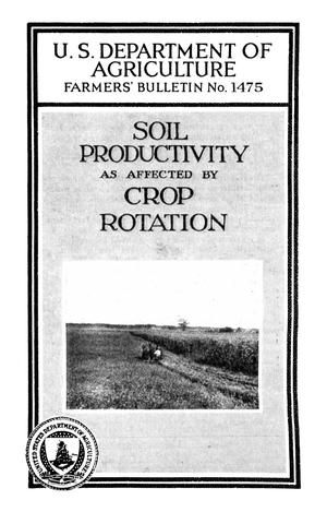 Primary view of object titled 'Soil Productivity As Affected by Crop Rotation'.