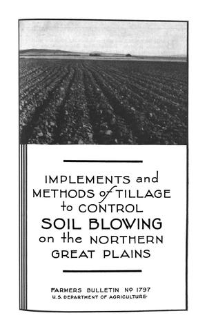 Primary view of object titled 'Implements and Methods of Tillage to Control Soil Blowing on the Northern Great Plains'.