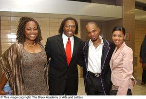 Primary view of object titled '[Curtis King, Regina Taylor, and Kirk Franklin with Guest]'.