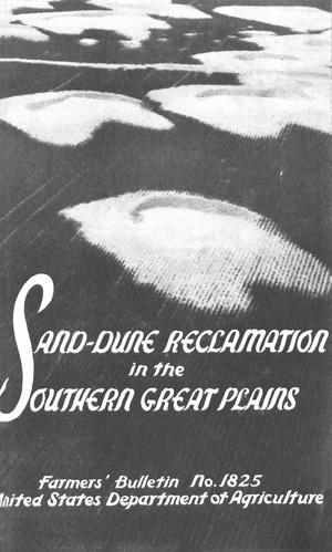 Primary view of object titled 'Sand-Dune Reclamation in the Southern Great Plains'.