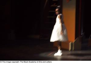 Primary view of object titled '[Young Girl Performing on Stage]'.