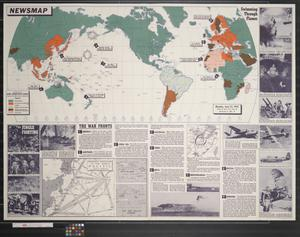 Primary view of object titled 'Newsmap. Monday, June 22, 1942 : week of June 12 to June 19'.