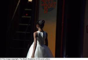 Primary view of object titled '[Young Performer Exiting Stage]'.