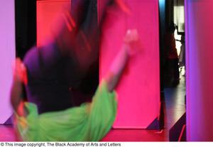 Primary view of object titled '[Performer Flipping On-Stage]'.