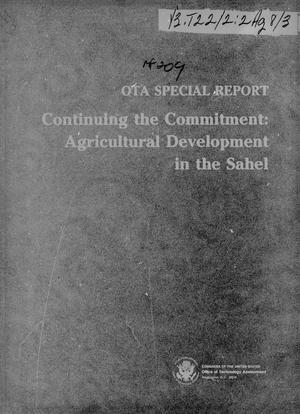 Primary view of object titled 'Continuing the commitment: agricultural development in the Sahel'.
