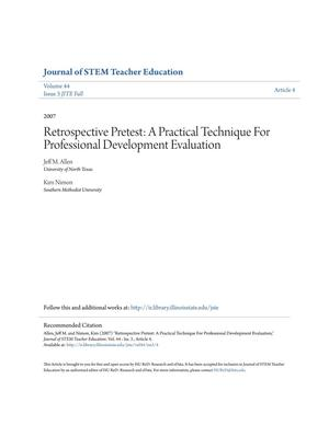 Primary view of object titled 'Retrospective Pretest: A Practical Technique For Professional Development Evaluation'.