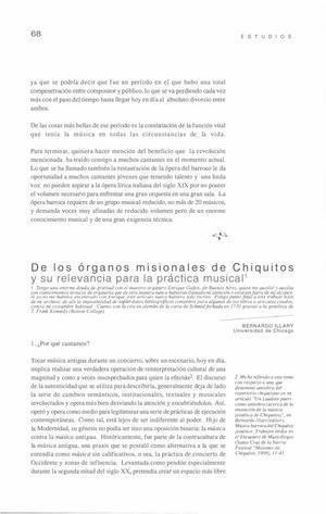 De los órganos misionales de Chiquitos y su relevancia para la práctica musical