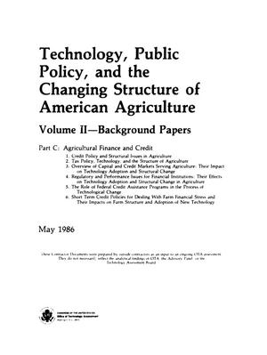 Primary view of object titled 'Technology, public policy, and the changing structure of American agriculture, Volume II, Part C'.