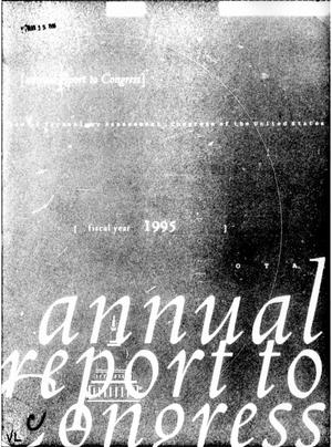 Primary view of object titled 'Annual Report to the Congress for Fiscal Year 1995'.