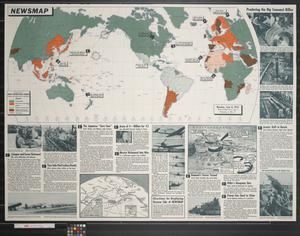 Primary view of object titled 'Newsmap. Monday, June 8, 1942 : week of May 29 to June 5'.