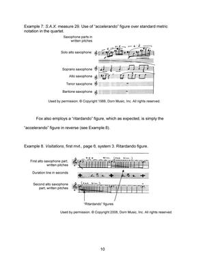 The Saxophone Music of Frederick Fox: An Annotated