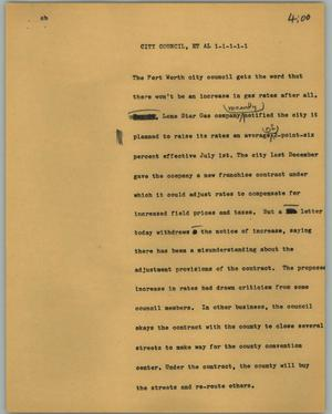 Primary view of [News Script: City council]