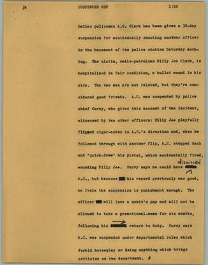 Primary view of object titled '[News Script: Suspended cop]'.