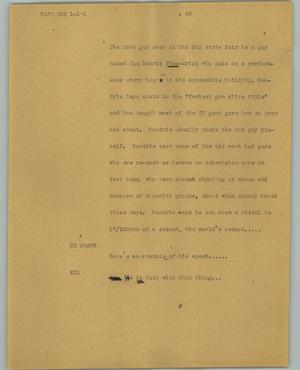 Primary view of object titled '[News Script: Fast gun]'.