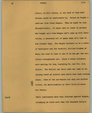 Primary view of object titled '[News Script: Itasca]'.