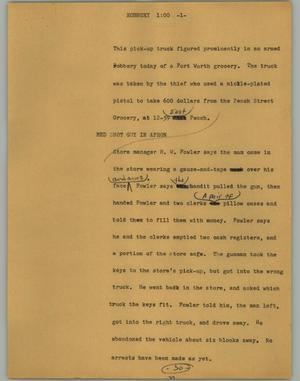 Primary view of [News Script: Robbery]