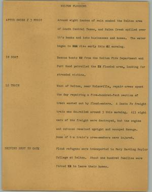 Primary view of object titled '[News Script: Belton Flooding]'.