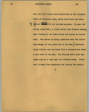 Primary view of object titled '[News Script: Grapevine search]'.