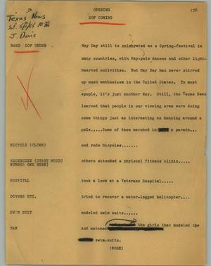 Primary view of object titled '[News Script: Opening]'.