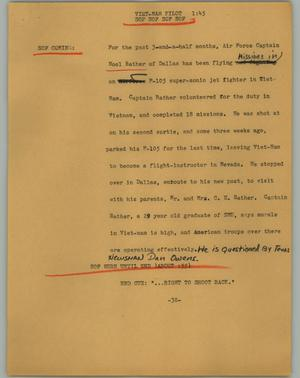 Primary view of object titled '[News Script: Viet-nam pilot]'.