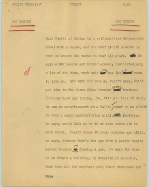 Primary view of object titled '[News Script: Fugitt]'.