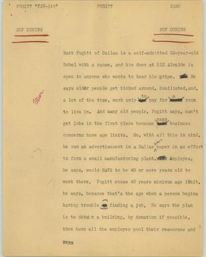 Primary view of [News Script: Fugitt]