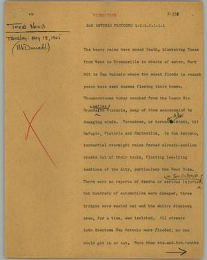 Primary view of object titled '[News Script: San Antonio flooding]'.