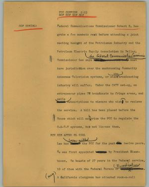 Primary view of object titled '[News Script: FCC Commish]'.