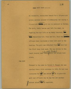 Primary view of object titled '[News Script: Rape case]'.
