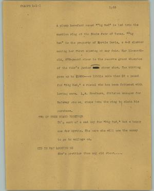 Primary view of object titled '[News Script: Champs]'.