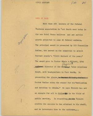 Primary view of [News Script: Civil servant]