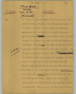 Primary view of object titled '[News Script: AP Chief]'.