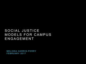 Social Justice Models for Campus Engagement