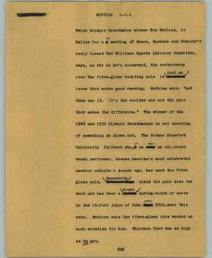 Primary view of object titled '[News Script: Mathias]'.