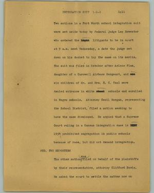 Primary view of object titled '[News Script: Integration suit]'.