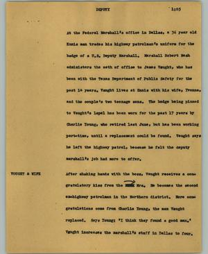 Primary view of object titled '[News Script: Deputy]'.