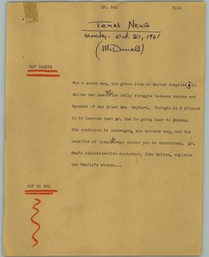 Primary view of object titled '[News Script: Mr. Sam]'.