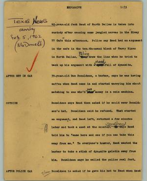 Primary view of object titled '[News Script: Explosive]'.