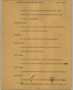 Primary view of object titled '[News Script: Mexico's new railroad and lake visited]'.