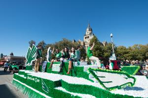 Primary view of object titled '[Mean Green Homecoming Parade Float]'.